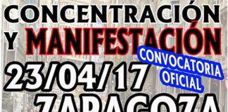 Cartel manifestación Zaragoza